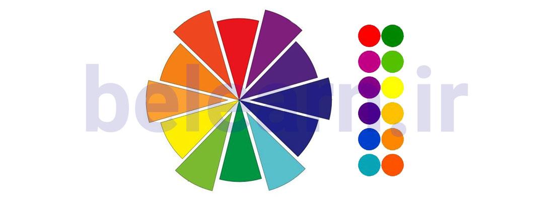 جفت های مکمل تئوری رنگ ها در طراحی سایت | بی لرن