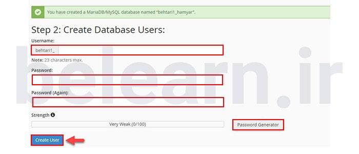 نصب Databases | بی لرن