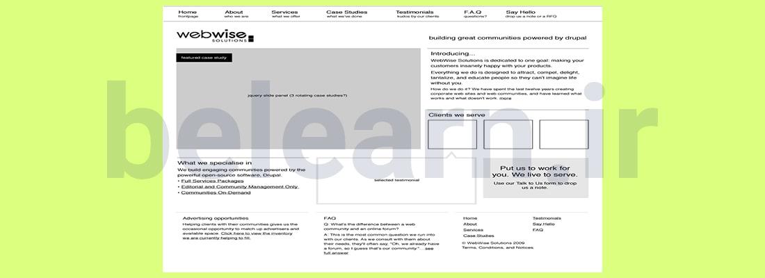 Hi-definition Wireframe | بی لرن