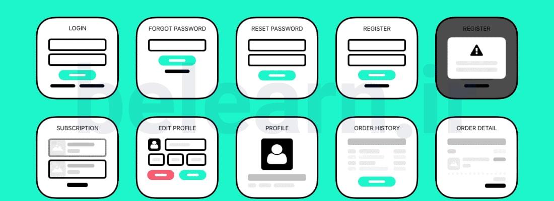 مراحل طراحی Wireframe (طرح دستی وب سایت) | بی لرن