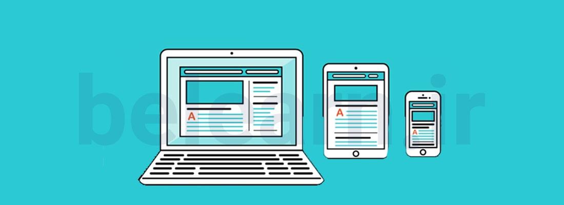طراحی قالب یک سایت واکنش گرا (responsive) | بی لرن