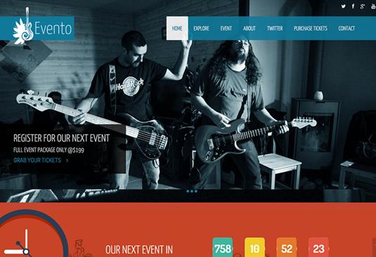 Evento - نمونه قالب سایت طراحی شده با بوت استرپ | بی لرن