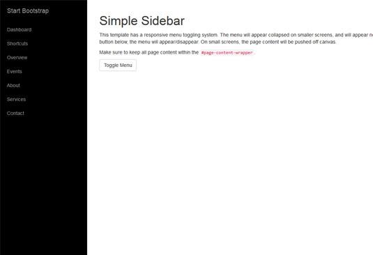 Simple Sidebar | بی لرن